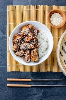 Poulet teriyaki avec du riz