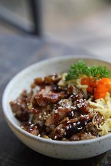 Poulet teriyaki avec riz