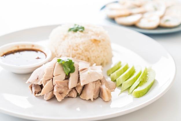 Poulet à la vapeur au riz