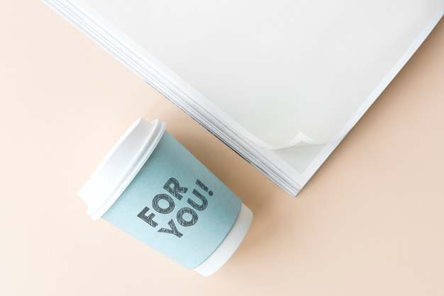 Pour vous écrit sur un gobelet en papier