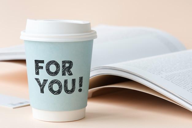 Pour vous écrit sur une tasse de papier