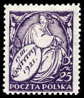 Pourpre nouvelle constitution timbre