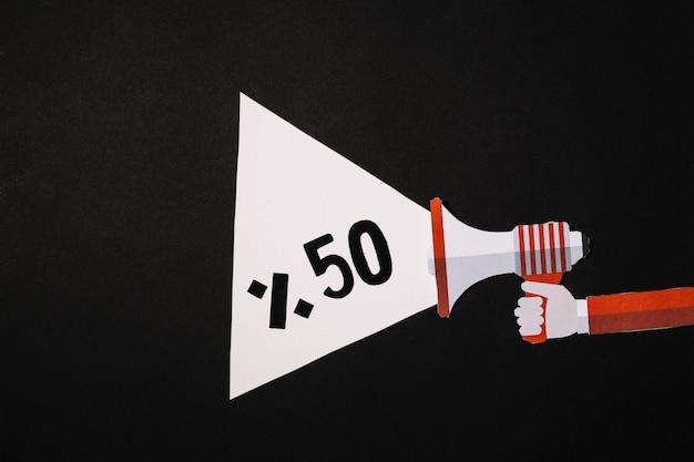 Poutre megaphone avec 50% de réduction