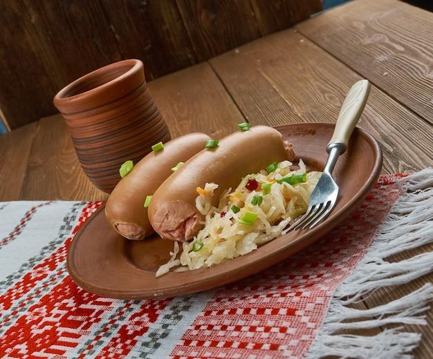 Prawdziwe serdelki - saucisses polonaises de veau et de porc