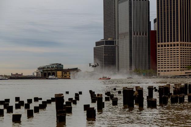 Le premier escadron d'hélicoptères de marine de manhattan à new york est le président des états-unis