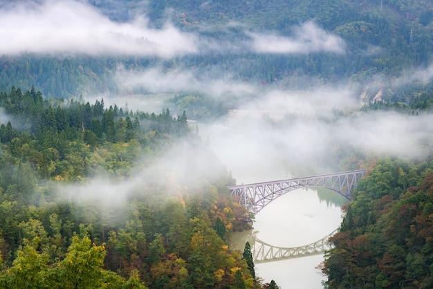 Premier point de vue du pont de fukushima