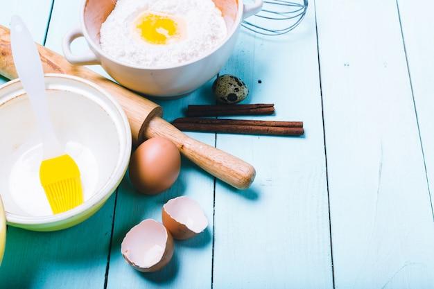 Préparation de la pâte. ingrédients pour la pâte