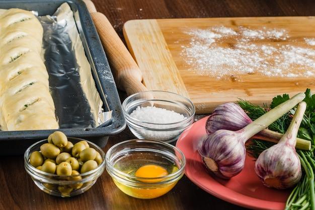 Préparation de la pâte à pain baguette