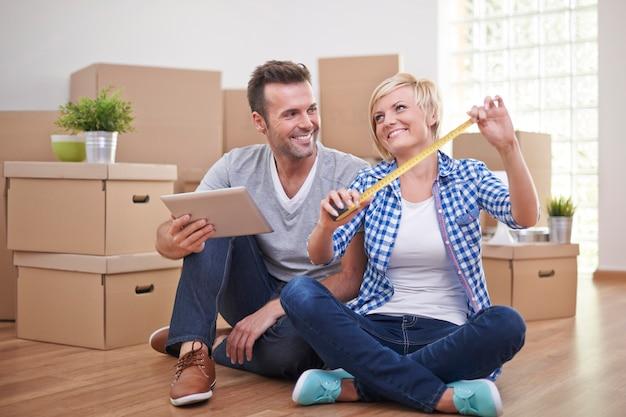Préparation de la pièce pour de nouveaux meubles