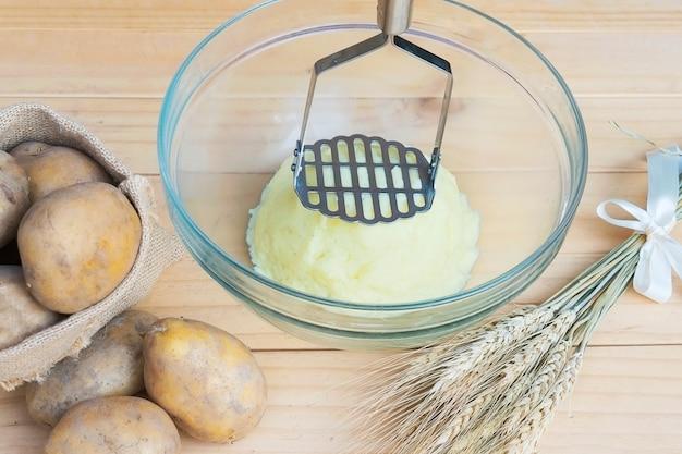 Préparation de la purée de pommes de terre