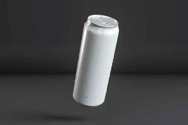 Présentation abstraite de canettes en aluminium