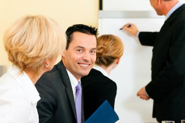 Présentation d'affaires en réunion