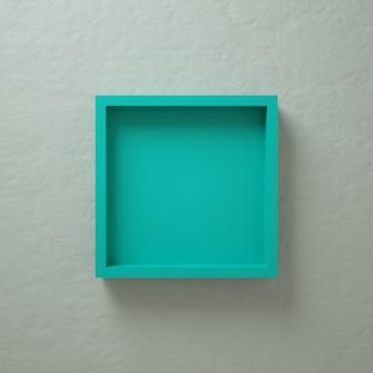 Présentoir mural cian 3d square box