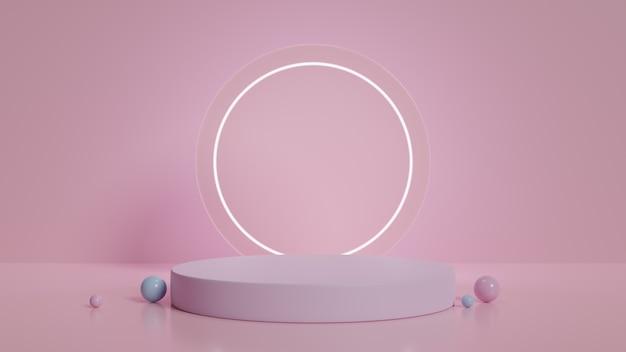 Présentoir podium minimaliste moderne