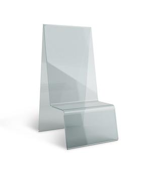 Présentoir de support de menu de support de table en acrylique transparent isolé avec chemins de travail, chemins de détourage inclus