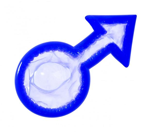 Préservatif signe masculin