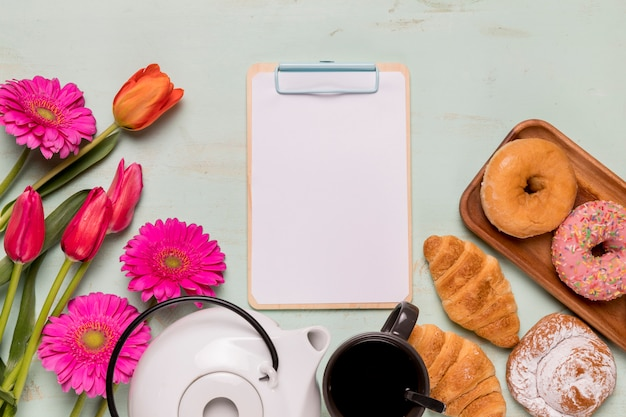 Presse-papiers à cadre avec service à thé