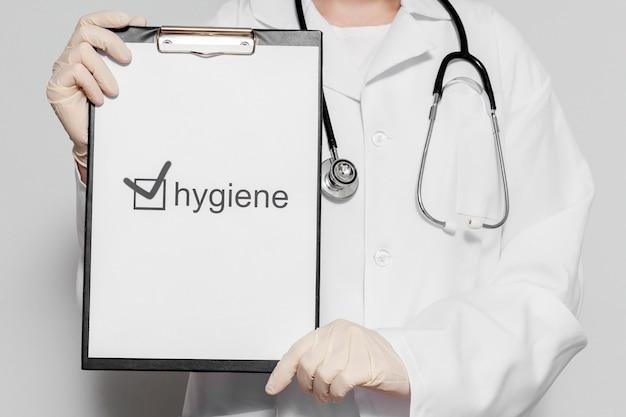 Presse-papiers avec contrôle d'hygiène