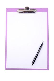Presse-papiers isolé sur blanc