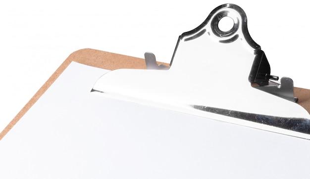 Presse-papiers, isolé sur blanc