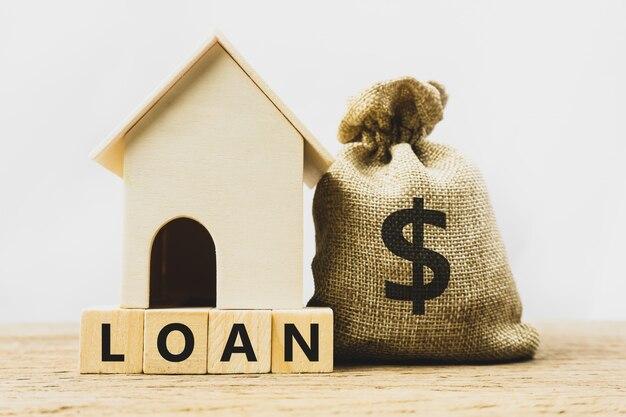 Prêt immobilier, hypothèque, assurance habitation, hypothèque financière pour concept de maison.