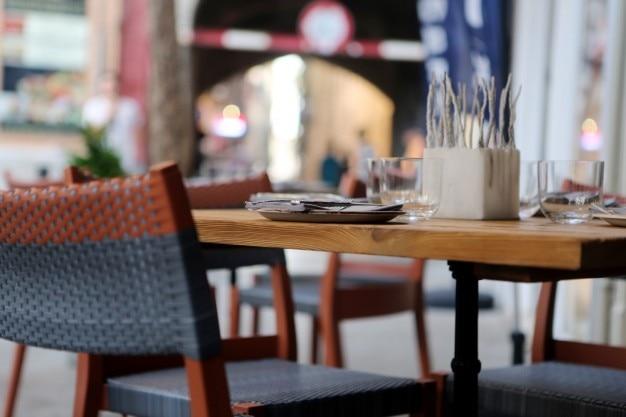 Prêts table de restaurant