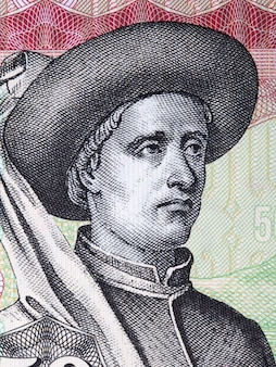 Le prince henri le navigateur dans une facture d'argent du portugal