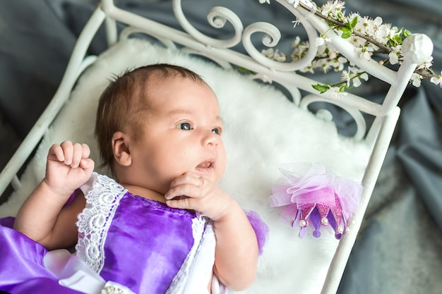 Princesse bébé fille nouveau-né