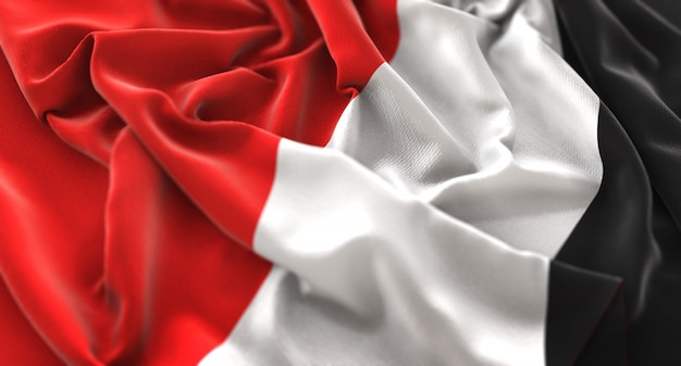 Principauté de sealand flag ruffled magnifiquement waving macro plan rapproché