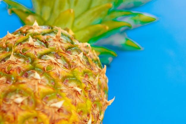 Prise de vue en studio d'ananas. les fruits tropicaux sont isolés