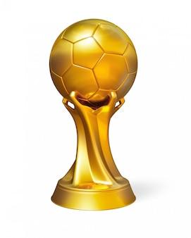 Prix de ballon de football doré isolé