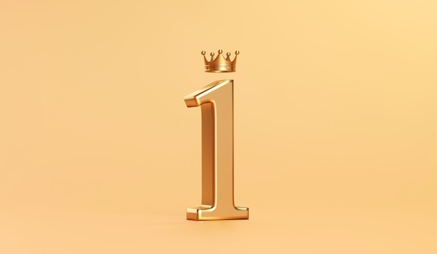 Prix de la couronne d'or numéro 1 et du roi d'or sur le succès