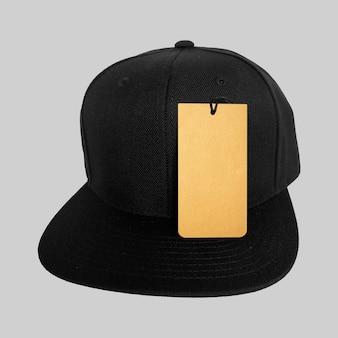 Prix de l'étiquette sur la casquette snapback noire