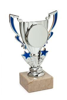 Prix sportifs isolés sur fond blanc