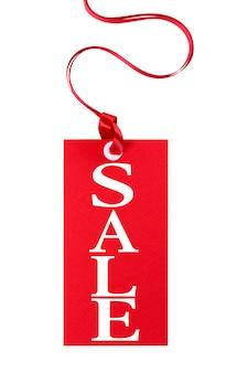 Prix de vente tag avec un ruban rouge