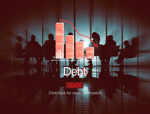 Problème risque déflation dépression concept de faillite