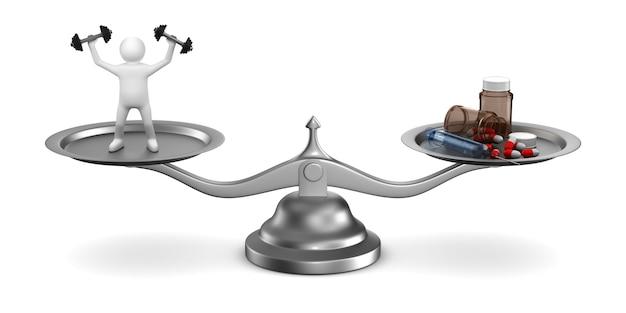 Problèmes de dopage dans le sport. illustration 3d isolée