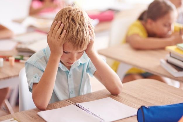 Problèmes d'élève d'âge élémentaire