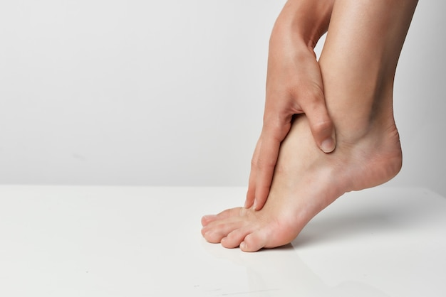 Problèmes de santé de médecine de traitement de massage de douleur de jambe