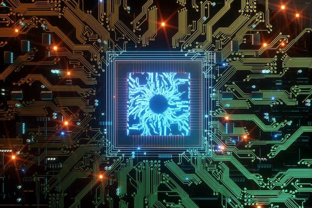 Processeur de communication intégré à puce numérique