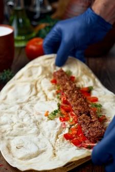 Le processus de fabrication du kebab