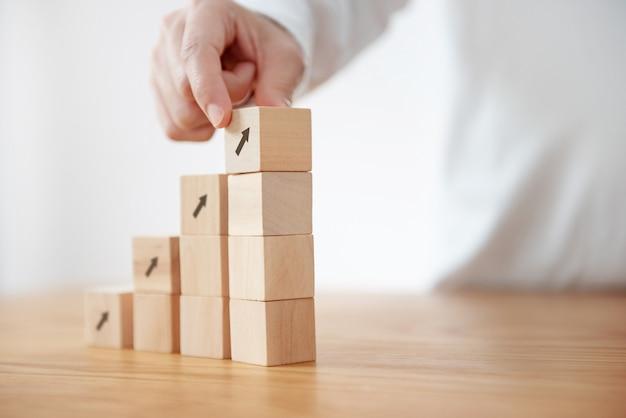 Processus de réussite de la croissance du concept d'entreprise.