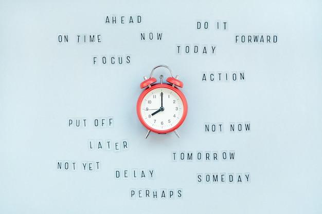De la procrastination et de la gestion du temps