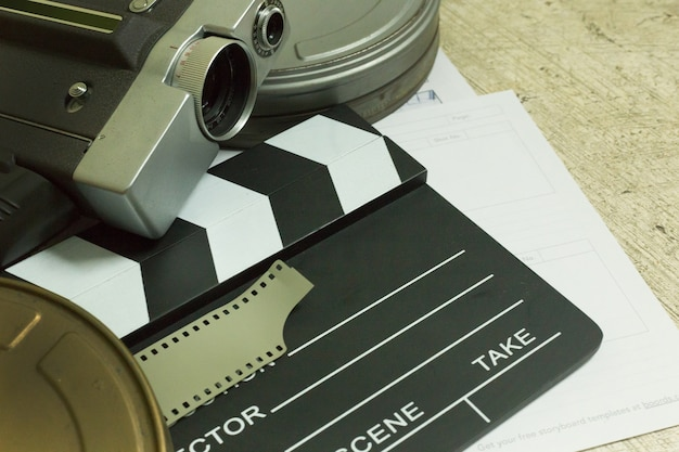 Production de film image en coulisse à plat de l'arrière-plan.