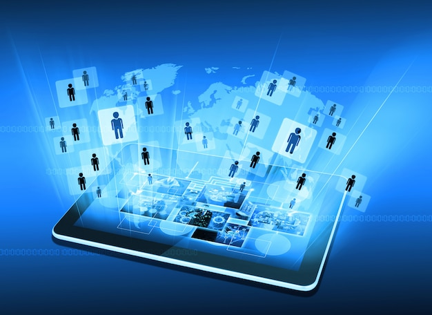 Production télévisuelle et internet .technologie et concept d'entreprise