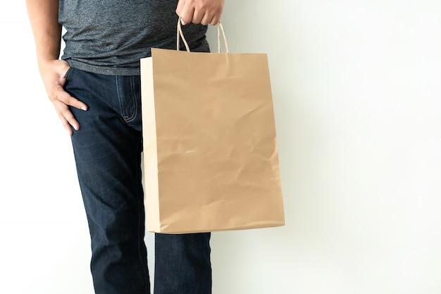 Produit de consommation grand public man show show de maquette de sac