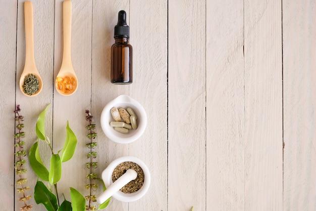 Produit de médecine biologique à base de plantes.