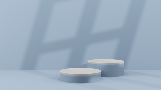 Produits d'arrière-plan 3d scène de podium minimale avec piédestal beige, rendu 3d