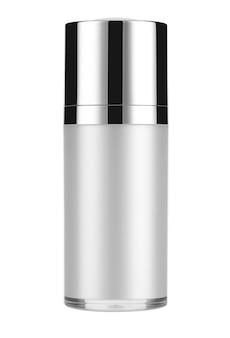 Produits cosmétiques mock up sur un fond blanc. collection d'emballage cosmétique. isolé.