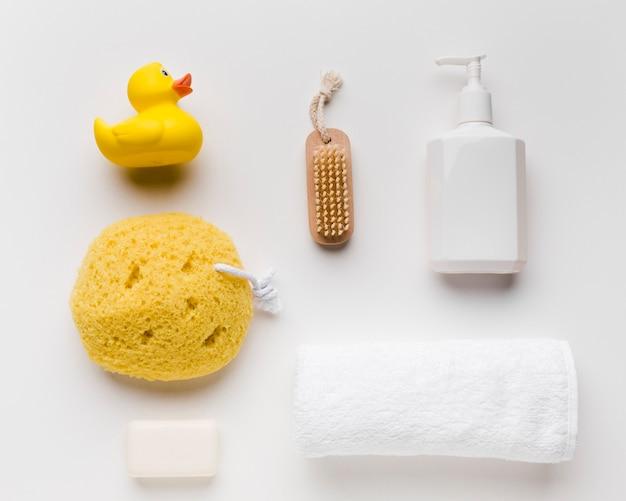 Produits d'hygiène de bain à plat